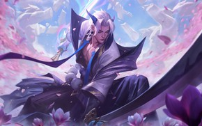 Picture Samurai, lol, Game, League of Legends, samurai, League Of Legends, Riot Games, yone, Yone, Yone …