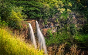 Picture USA, Hawaii, Waterfall