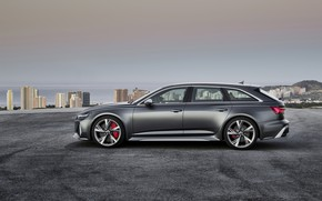 Picture Audi, side view, Before, RS6, RS 6, 2019