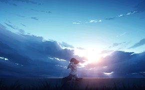 Picture the sky, girl, the sun