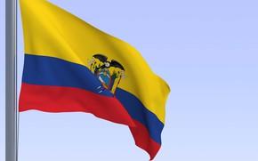 Picture the sky, yellow, flag, eagle, texture, ecuador, Ecuador