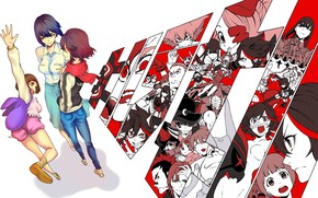 Picture anime, art, characters, Kill La Kill, Smash slash