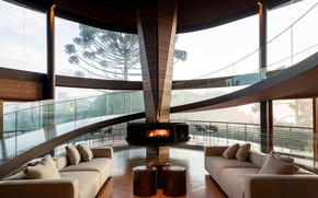 Picture Villa, interior, fireplace, living room, by Mareines Arquietura, Casa Pinhão