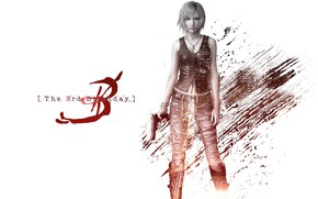 Picture girl, white background, Parasite Eve