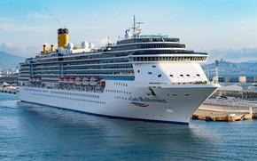 Picture the ship, cruise liner, Costa Mediterranea