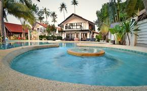 Picture the city, palm trees, pool, architecture, resort, Villa, Sai Name Lanta, villa Malee, Malee beach