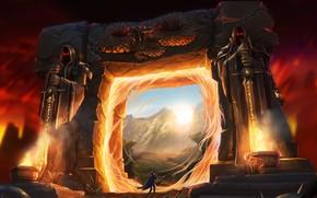 Picture Portal, Fantasy, Alliance, Warcraft, Blizzard, The portal, Knight, Magic, Warcraft 3, Fan Art, Knight, Battle, …