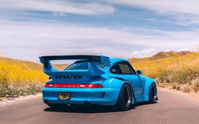 Picture Blue, Porsche 911, RWB, Vehicle