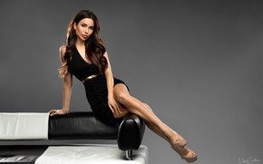 Picture look, sexy, pose, background, model, portrait, makeup, figure, dress, hairstyle, shoes, brown hair, legs, beauty, …