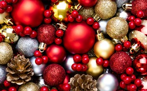 Picture decoration, balls, colorful, New Year, Christmas, Christmas, balls, New Year, decoration, Merry