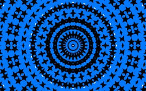 Picture blue, pattern, round, kaleidoscope