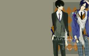 Picture style, frame, guys, Rakudo Mukuro, Katekyo Hitman reborn, Hibari Kyoya, Teacher mafia Reborn