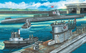 Picture Submarine, Germany, Japan, U-Boot, Navy, Type C3, Imperial japanese navy