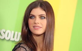 Picture look, girl, makeup, actress, brunette, photoshoot, blue-eyed, hair, Alexandra Daddario, Alexandra Daddario