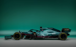 Picture Aston Martin, the car, Formula 1, 2021, AMR21