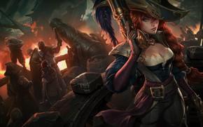 Picture girl, pirates, League of Legends, League Of Legends