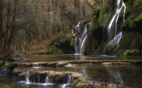 Picture landscape, nature, waterfall, beauty, slope