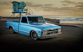 Picture Blue, Pickup, Fleetside, Gmc