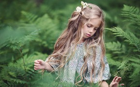 Picture nature, thickets, girl, child, Тувиста Марина
