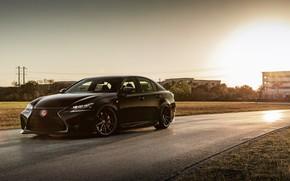 Picture Lexus, Japan, Black, Evening, F-sport