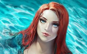 Picture look, water, girl, art, Aquaman