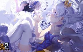 Picture girls, crown, Kiana Kaslana, by miHoYo, Houkai Gakuen 2