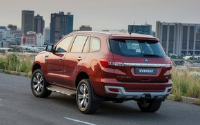 Picture road, Ford, back, Everest, Limited, 4WD, 2015
