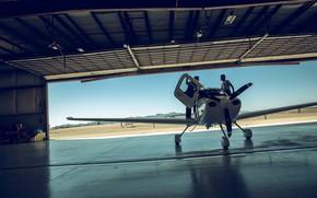 Picture people, hangar, the plane, the airfield, Lufthansa European Flight School