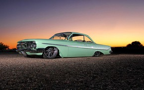 Picture Chevrolet, Bel Air, Lowrider, Low, Vehicle