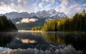 Picture Bavaria, Eibsee, The District Of Garmisch-Partenkirchen