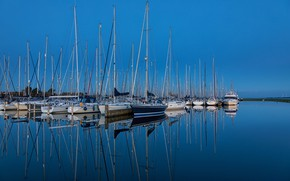 Picture water, yachts, port, harbour