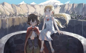 Picture mountains, children, Made in Abyss, Riko, Reg