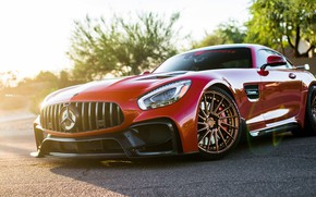 Picture Mercedes, Mercedes, Red, AMG GTS, Darwin Pro, Red Darwin Pro Mercedes AMG GTS