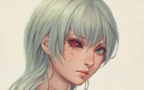 Picture girl, portrait, Gul, Tokyo Ghoul, Tokyo ghoul