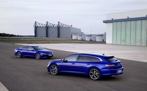 Picture Volkswagen, blue, structure, universal, Shooting Brake, liftback, 2020, Arteon, Shooting Brake R, Arteon R
