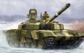 Picture T-72B2, Uralvagonzavod, Slingshot, Soviet medium and main tank