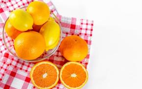 Picture oranges, bowl, lemons, tangerines, citrus, swipe