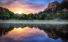 Picture lake, mountains, landscape