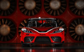 Wallpaper racing car, Toyota, front view, Supra, 2019, Xfinity