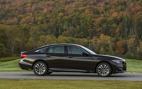 Picture profile, Honda, Accord, sedan, Hybrid, hybrid, 2018, Touring, four-door