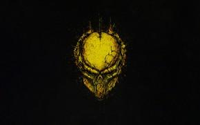 Picture Minimalism, Style, Helmet, Background, Predator, Art, Predator, Style, Background, Helix, Minimalism, The Predator, by Bogdan …