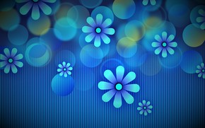 Picture flowers, background, graphics, texture, background, bokeh, digital art