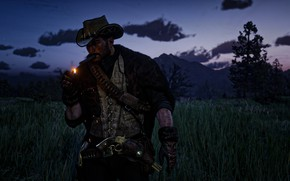 Picture game, smoke, red dead redemption, john marston, red dead redemption 2, rdr, rdr2