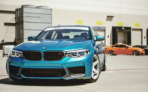 Picture BMW, Blue, Sight, LED, F90