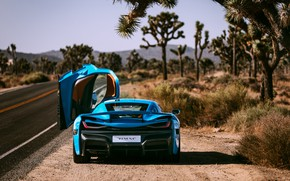 Picture supercar, rear view, 2018, Rimac, electric car, C-Two, California Edition