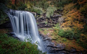 Picture autumn, water, waterfall, stream