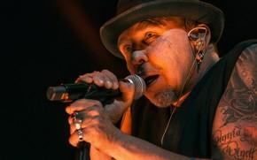 Picture face, hat, tattoo, microphone, musician, singer, Garik Sukachev, Alexander Osipov