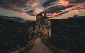 Picture Nature, Clouds, Forest, Castle Eltz