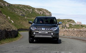Picture road, rocks, Mitsubishi, pickup, L200, 2015