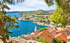 Picture sea, the city, Sibenik, Kaprije, Sibenik, Hormone